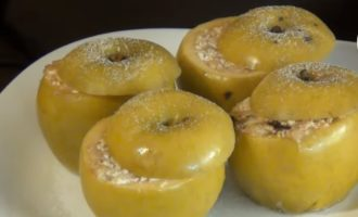 яблоки с творогом запеченные в микроволновке фото 4