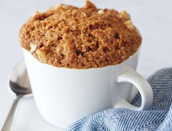 кекс в микроволновке в кружке с кофе