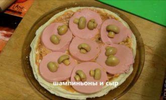 пицца в микроволновке из слоеного теста фото 7