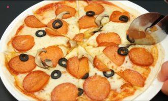 пицца из лаваша в микроволновке фото 10