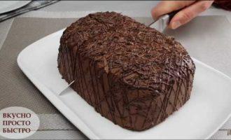 шоколадный пирог в микроволновке фото 18
